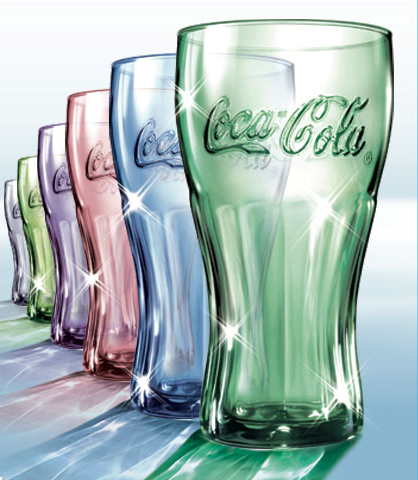 Colored Coca Cola Glasses