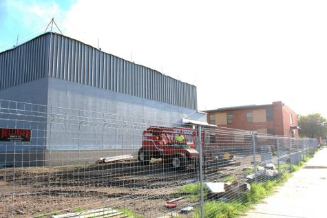 The new band room is coming underway.