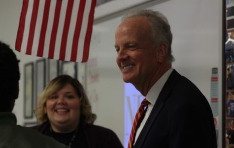 Senator Moran visits school to see bond updates