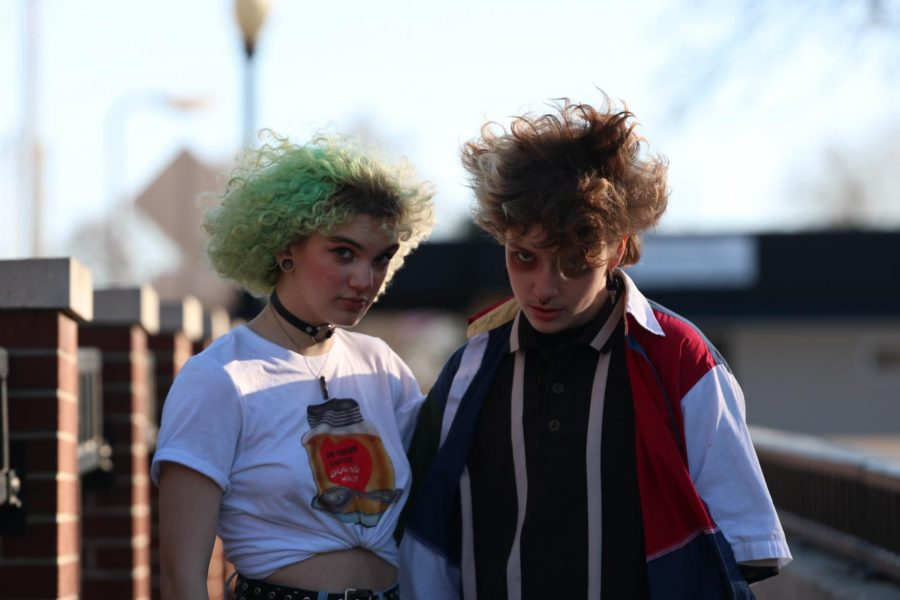 New outfits and alternative approaches to style have made juniors Tobi Duckworth and Nicole Wittman very popular at school. Both have adopted an alien drag mentality to their clothes and appearance.